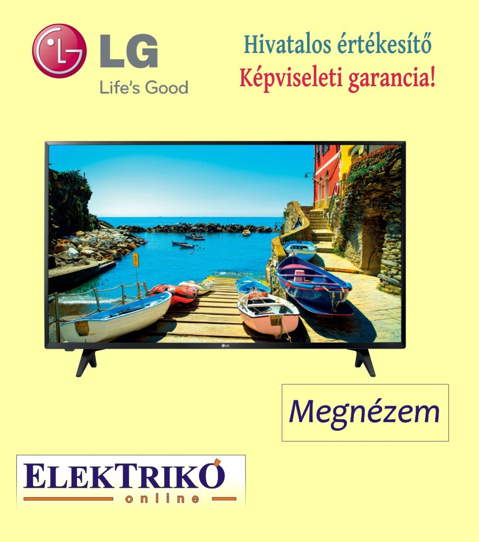 LG 43LJ500V Full HD TV Dolby Audio rendszerrel