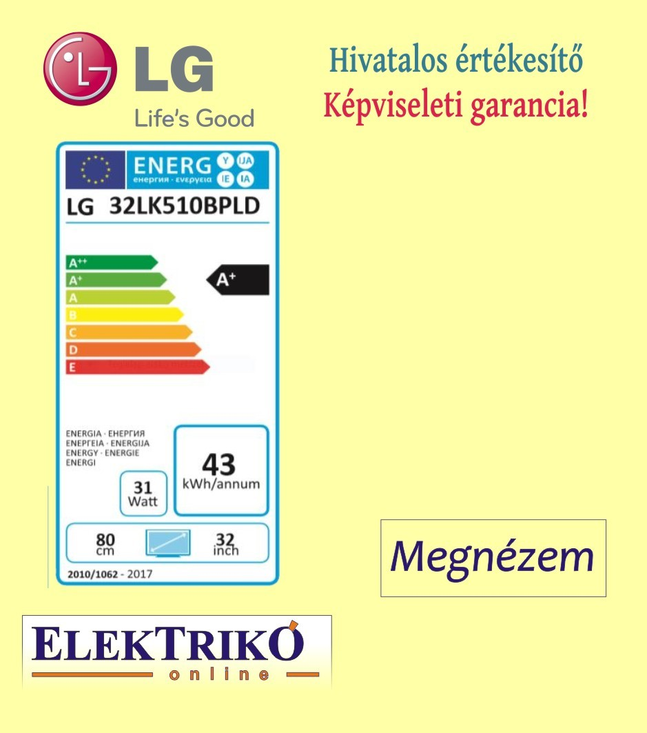 LG 32LK510BPLD LED HDReady TV , Game TV funkcióval