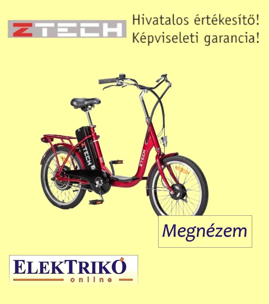 c9c3f4747461 Z-zech ZT-07 elektromos kerékpár Lithium-ion akkumulátorral , piros színben